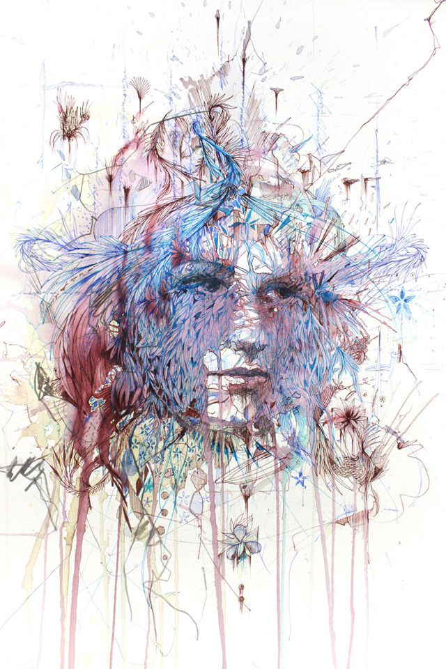 New works with tea, liquor, and coffee by Carne Griffiths: carne_griffiths_3_20130121_1775634332.jpg
