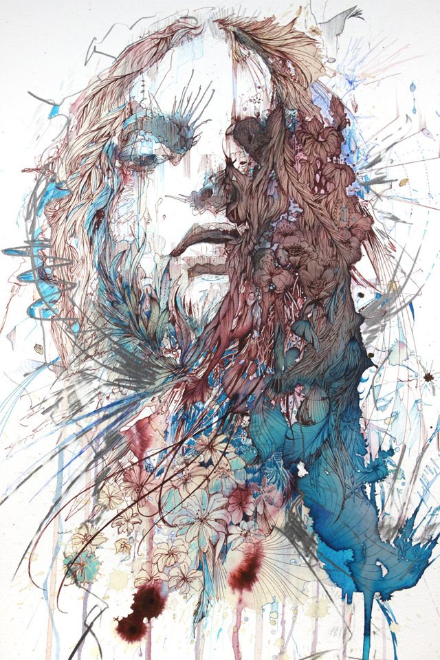 New works with tea, liquor, and coffee by Carne Griffiths: carne_griffiths_5_20130121_1815750614.jpg