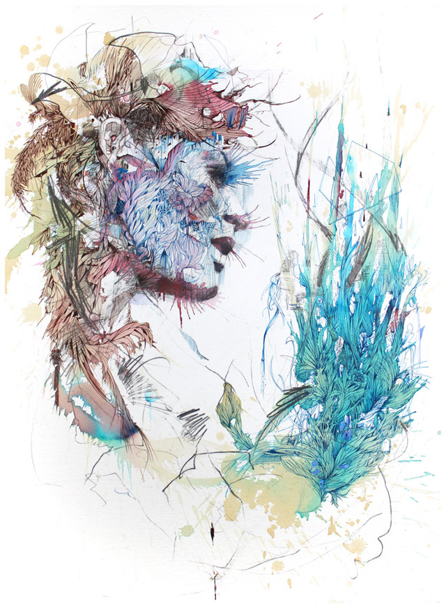 New works with tea, liquor, and coffee by Carne Griffiths: carne_griffiths_8_20130121_2004445979.jpg