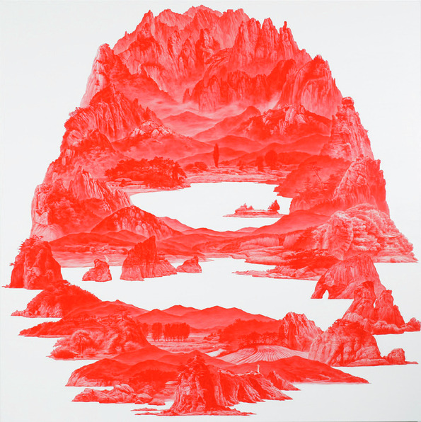 """Between Red,"" Paintings by Sea Huyn Lee: sea_huyn_lee_10_20130217_1163431227.jpg"