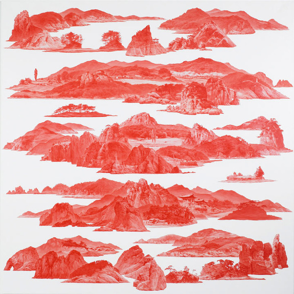 """Between Red,"" Paintings by Sea Huyn Lee: sea_huyn_lee_12_20130217_1961691187.jpg"
