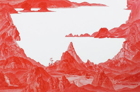 """Between Red,"" Paintings by Sea Huyn Lee: sea_huyn_lee_1_20130217_2043901042.jpg"