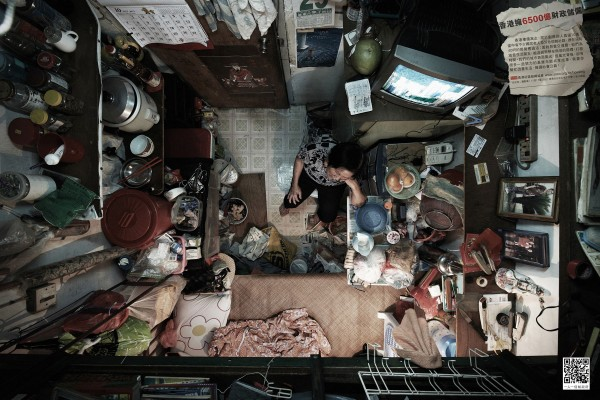 Photographs of Cubicle-Sized Apartment in Hong K