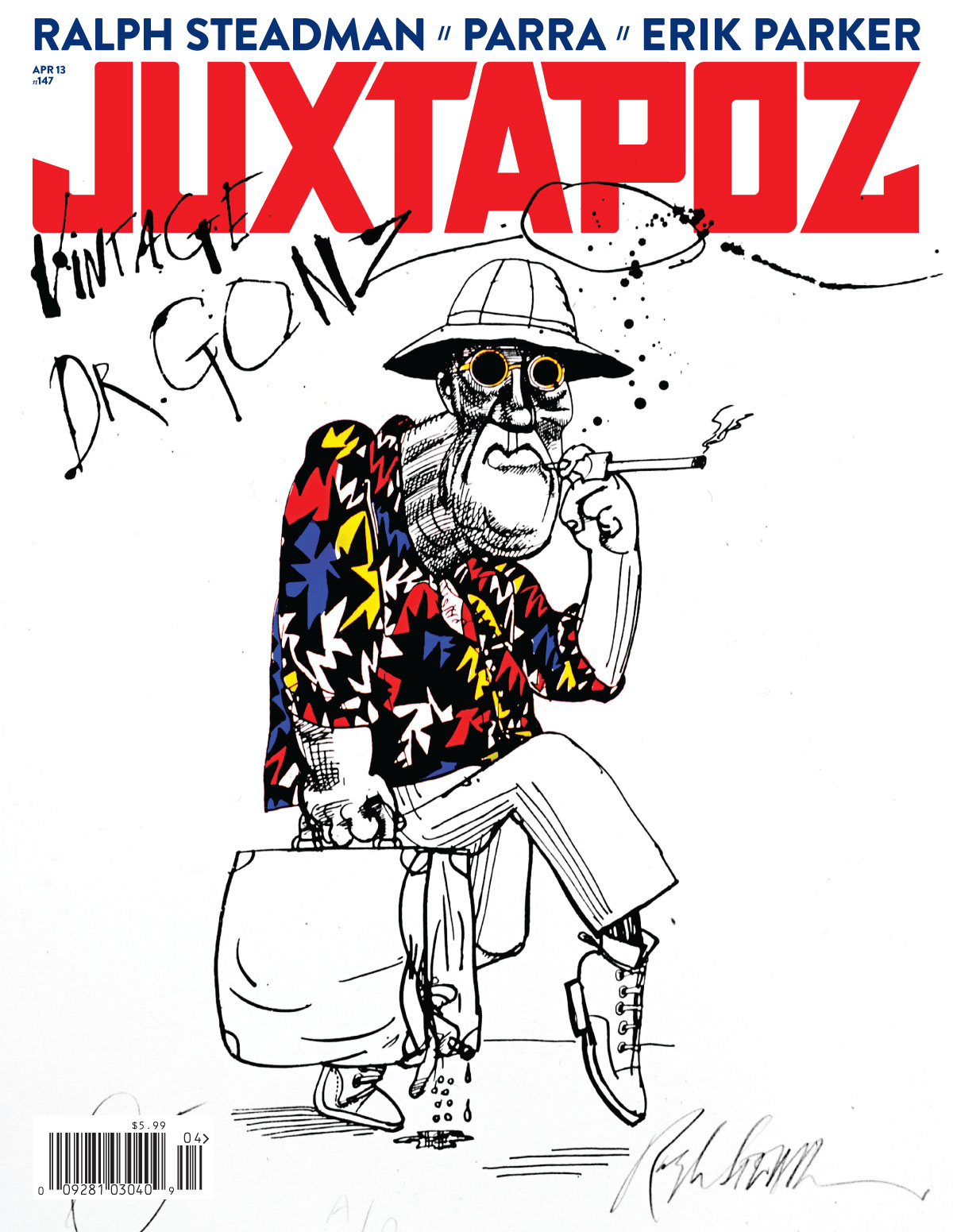 Issue Preview: April 2013 w/ Ralph Steadman, Erik Parker, Parra, and Hunter S Thompson: Cover.jpg