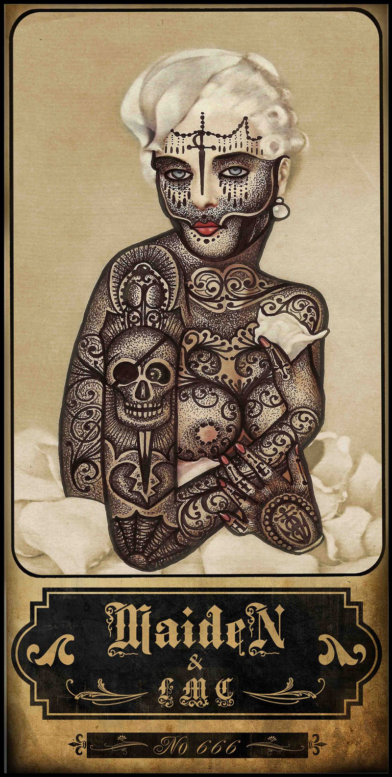 Tattooed Vintage Illustrations by Ramon Maiden: Ramon-Maiden_web10.jpg