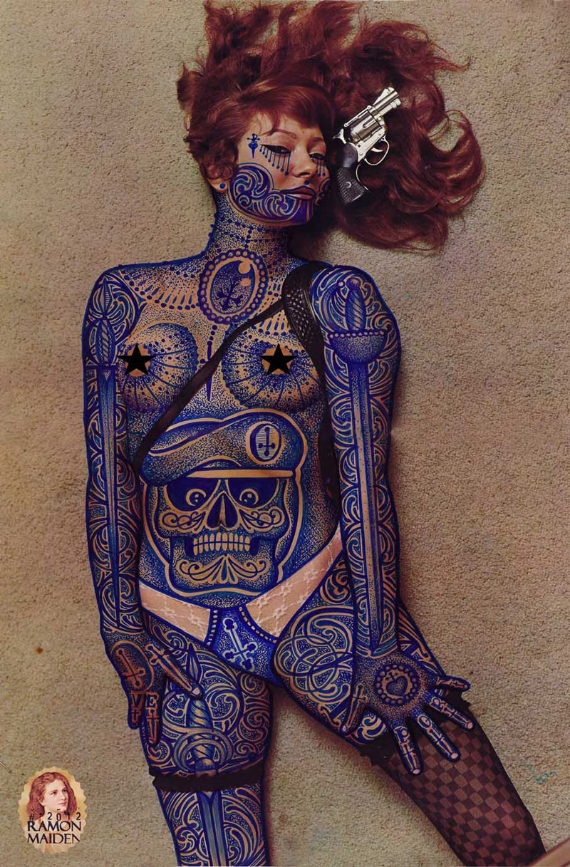 Tattooed Vintage Illustrations by Ramon Maiden: Ramon-Maiden_web16.jpg