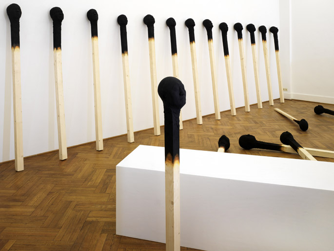 Giant Charred Matchstick Faces by Wolfgang Stiller: WolfgangStiller9.jpg