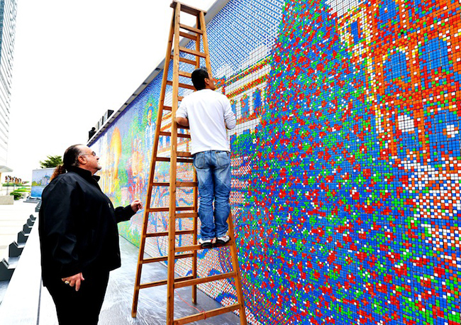 A Mural Made From 85,794 Rubik's Cubes: CubeWorksStudio3.jpeg