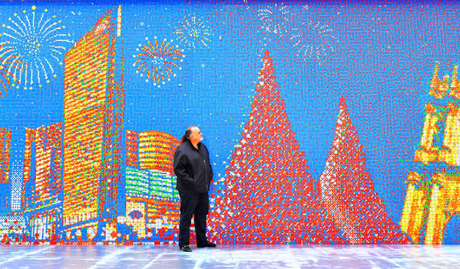 A Mural Made From 85,794 Rubik's Cubes: CubeWorksStudio4.jpeg