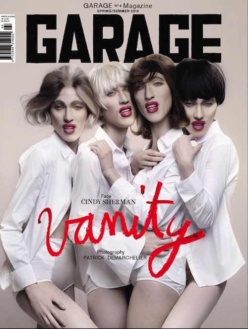 Cindy Sherman Masked Photoshoot by Patrick Demarchelier: garage-magazine-issue4-1.jpeg