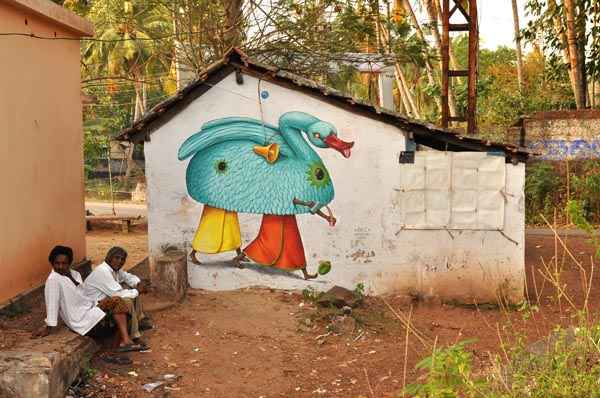 Multiple murals painted by AEC of Interesni Kazki in India: jux_ interesni_waone4.jpg