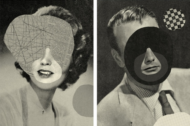 Collages by Mathilde Aubier: visages1.jpg