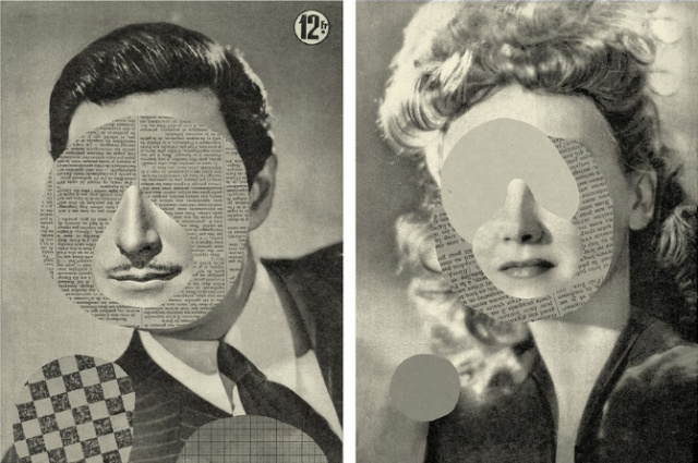 Collages by Mathilde Aubier: visages2.jpg