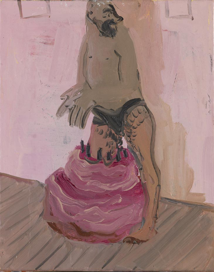 Paintings by Tala Madani: tala_madani_diving_cake.jpeg