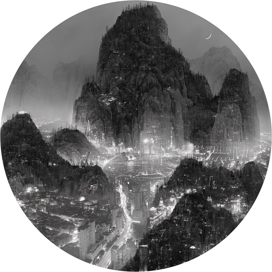 Photographic and Sculpture Works by Yang Yongliang: moonlight-2.jpeg