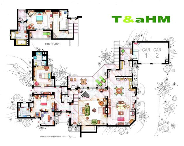 Floor Plans of Famous Television Shows: Famous-Television-Show-Home-Floor-Plans-10.jpg