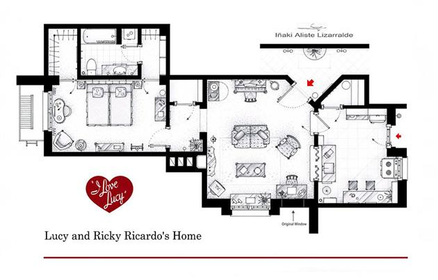Floor Plans of Famous Television Shows: Famous-Television-Show-Home-Floor-Plans-12.jpg