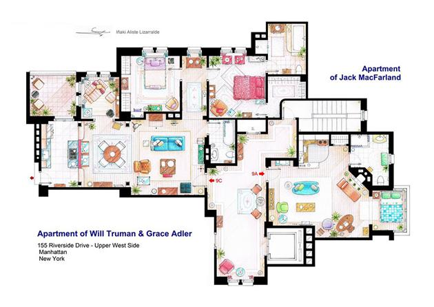 Floor Plans of Famous Television Shows: Famous-Television-Show-Home-Floor-Plans-13.jpg