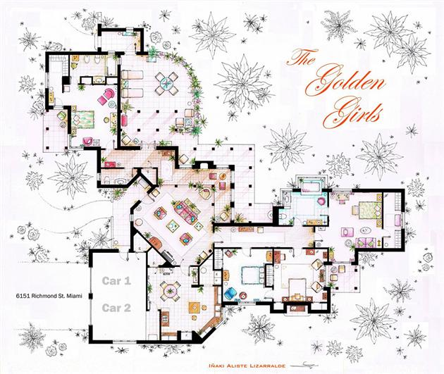 Floor Plans of Famous Television Shows: Famous-Television-Show-Home-Floor-Plans-14.jpg