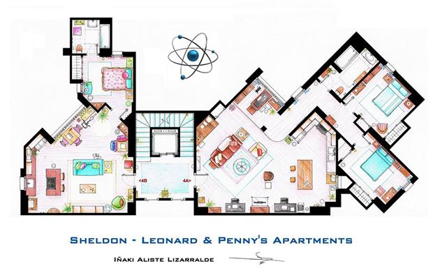 Floor Plans of Famous Television Shows: Famous-Television-Show-Home-Floor-Plans-15.jpg