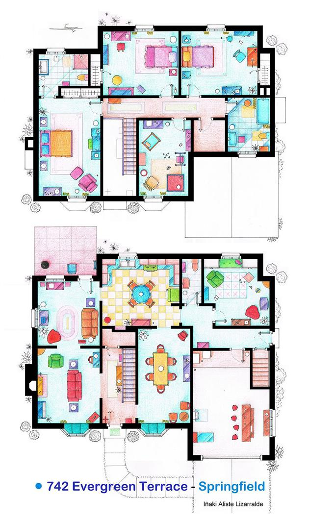 Floor Plans of Famous Television Shows: Famous-Television-Show-Home-Floor-Plans-3.jpg