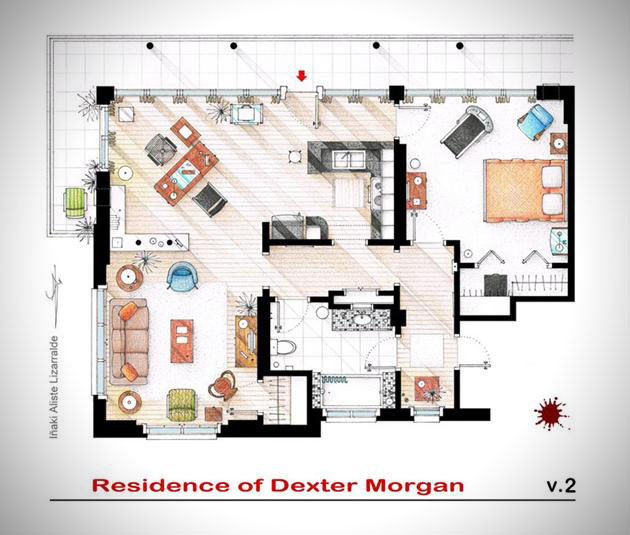 Floor Plans of Famous Television Shows: Famous-Television-Show-Home-Floor-Plans-4.jpg