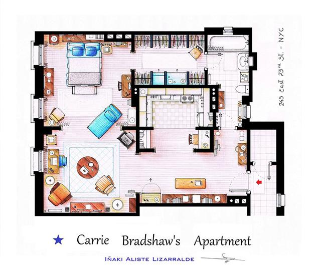 Floor Plans of Famous Television Shows: Famous-Television-Show-Home-Floor-Plans-5.jpg