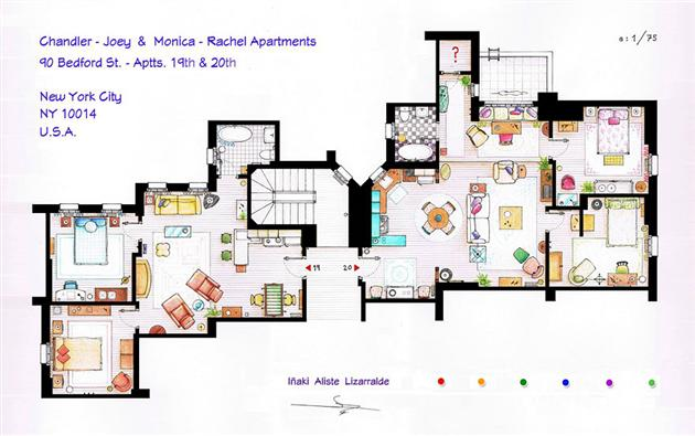 Floor Plans of Famous Television Shows: Famous-Television-Show-Home-Floor-Plans-6.jpg