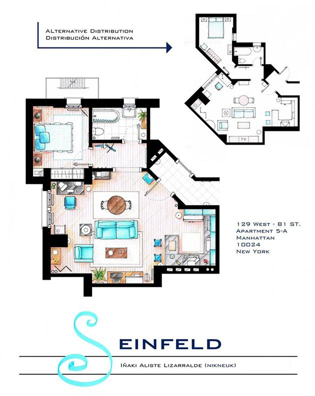 Floor Plans of Famous Television Shows: Famous-Television-Show-Home-Floor-Plans-7.jpg