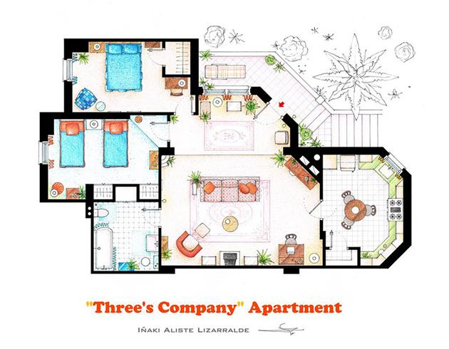 Floor Plans of Famous Television Shows: Famous-Television-Show-Home-Floor-Plans-8.jpg