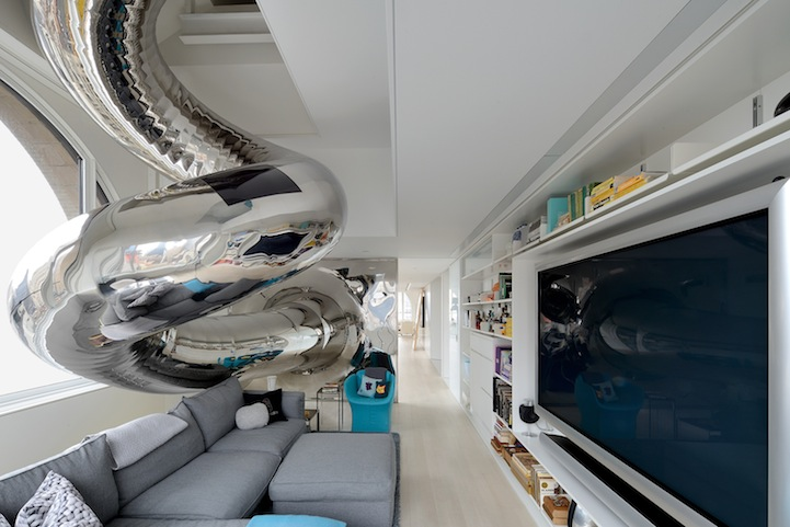 This Modern Home has a Multi-Story Indoor Slide: david-hotson-skyhouse-slide.jpeg