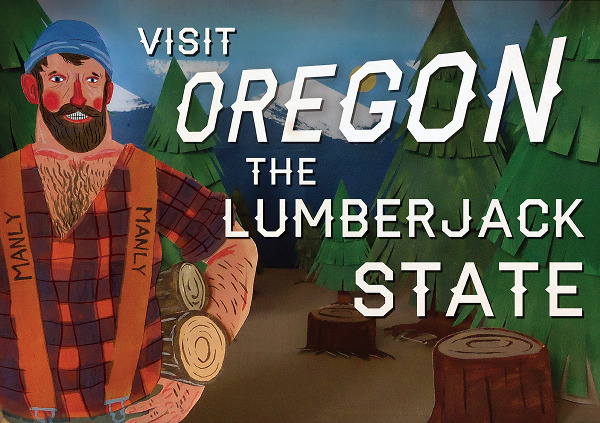 Humorous Illustrations by Tim Parker: lumberjackweb_600.jpg