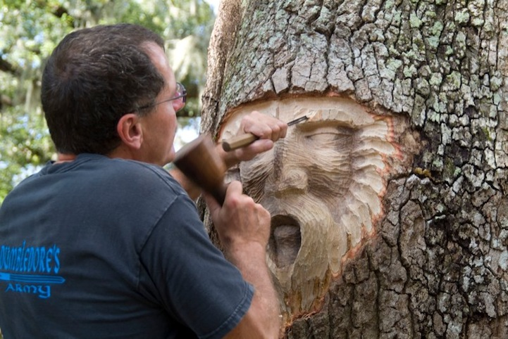 Living Tree Spirit Carvings by Keith Jennings: keithjenningstreespirits4.jpg
