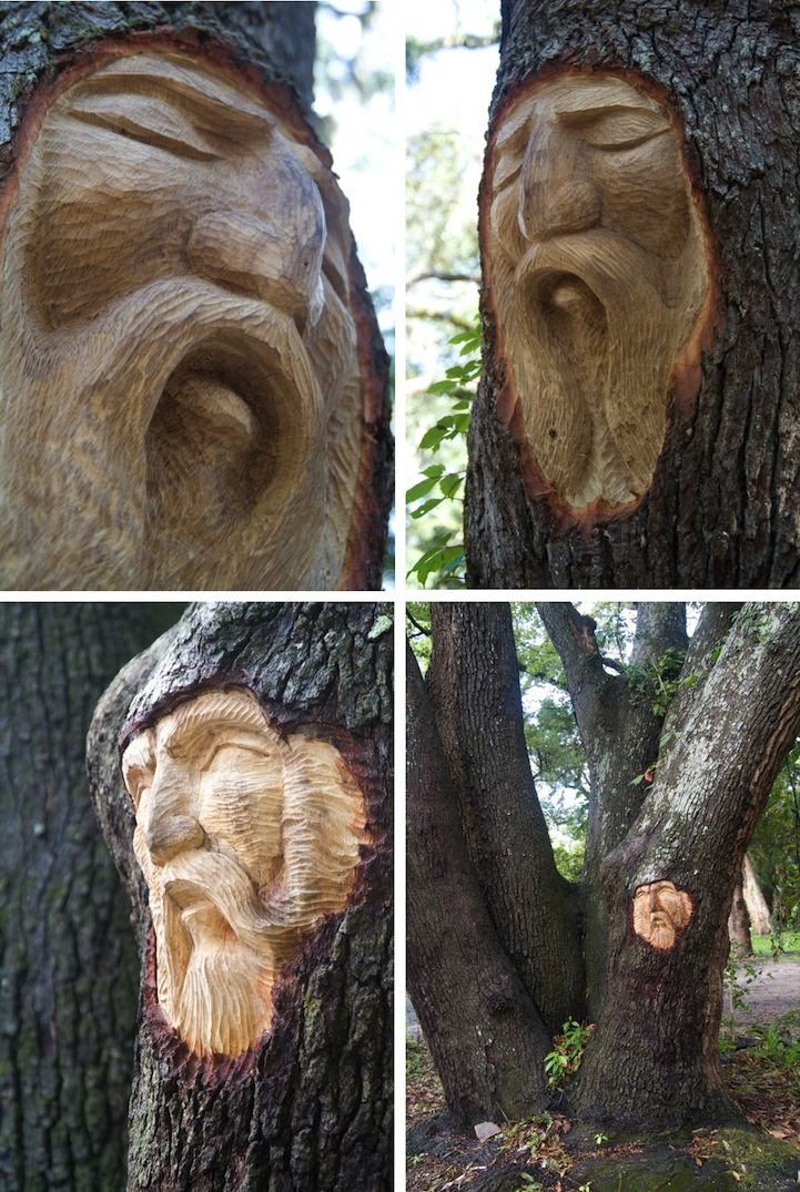 Living Tree Spirit Carvings by Keith Jennings: keithjenningstreespirits7.jpg