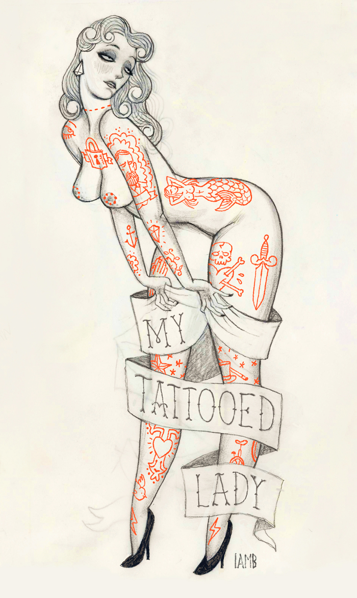 Timothy J Lamb's Sultry Illustrations: mytattooedlady.jpg