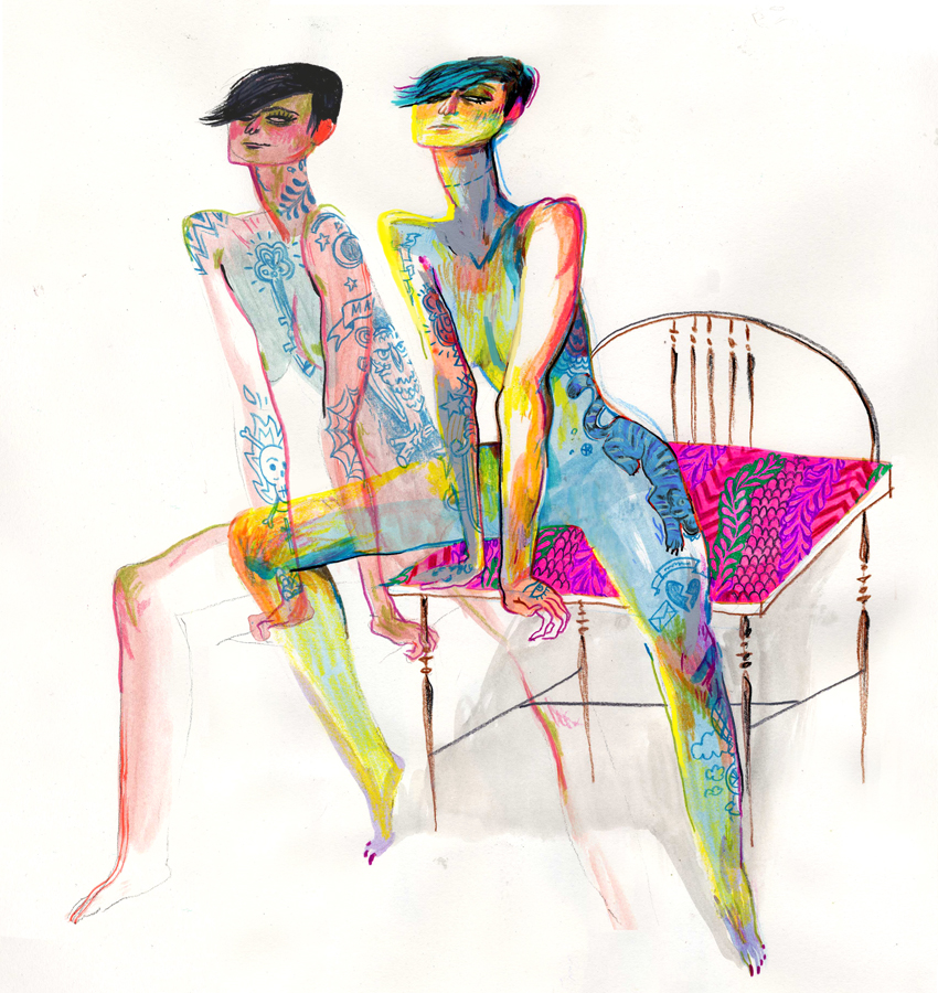 Timothy J Lamb's Sultry Illustrations: seated_figure_01.jpg