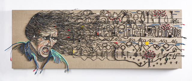 Federico Uribi Paints with Repurposed Electrical Wires: uribe-7.jpg
