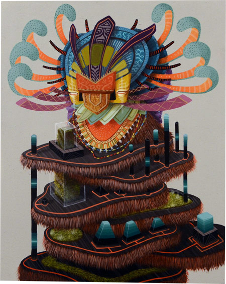 New Paintings and Exhibition by Curiot @ FFDG, SF: distorted_nature.jpg