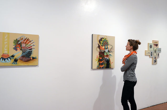 New Paintings and Exhibition by Curiot @ FFDG, SF: install.jpg