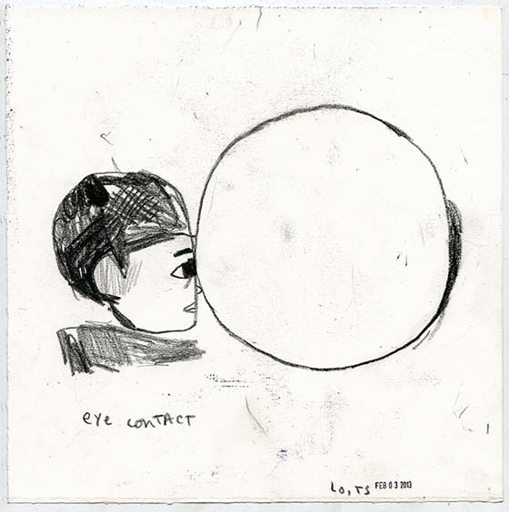Tessar Lo's Expressionistic Illustrations: eye-contact-moon-11-x-11-28-x-28-cm-china.jpeg