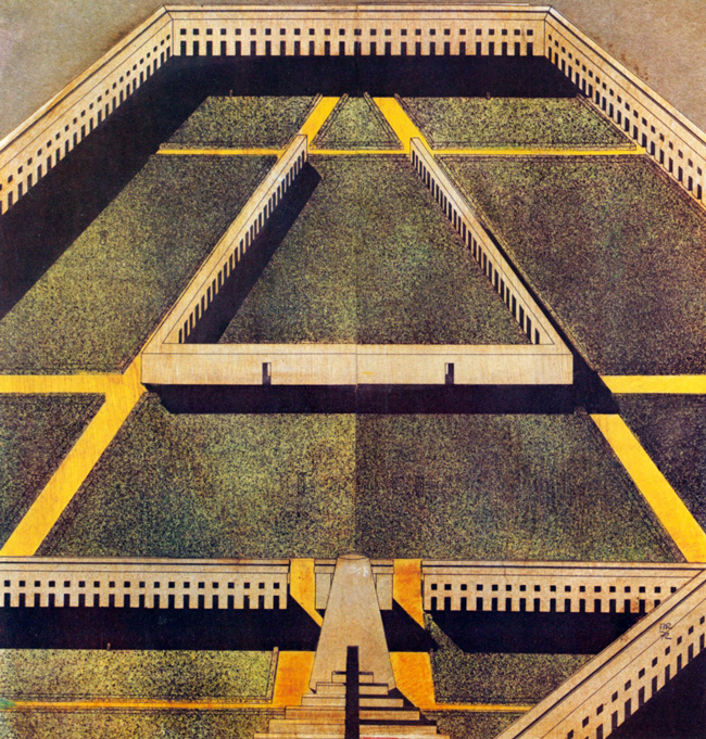 Drawings and Sketches by Italian Architect Aldo Rossi: aldo-rossi-the-labyrinth-1972.jpeg