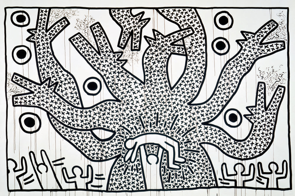 Keith Haring Retrospective @ MAM Paris: keith-haring-the-political-line-retrospective-exhibition-mam-paris-4.jpg