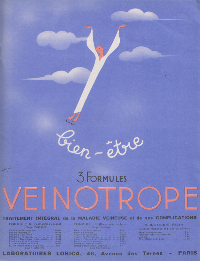 French Pharmaceutical Ads from the 1930s: 03-French-medical-ad-1930s.jpg