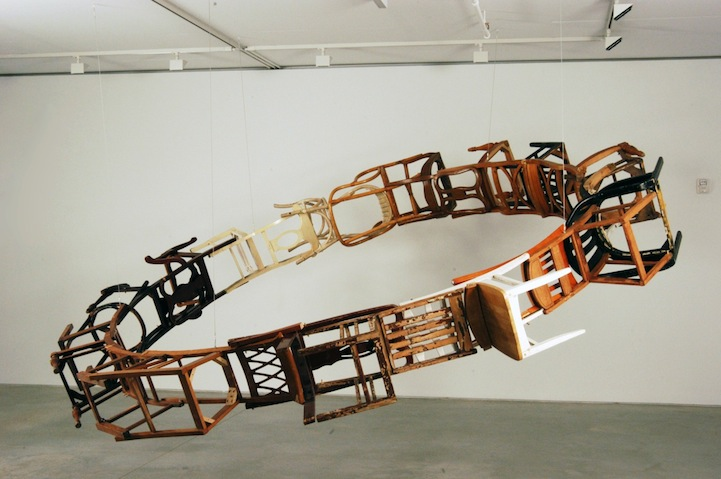 Suspended Loop of Chairs by Marc Andre Robinson: marc-andre-robinson-right-of-return-by-themselves-and-of.jpeg