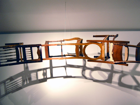 Suspended Loop of Chairs by Marc Andre Robinson: marcandrerobinsonbythemselvesandofthemselves2.jpg