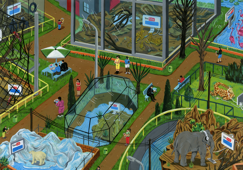 New Illustrations by Brecht Vandenbroucke: zoo day the earth stood still.jpg