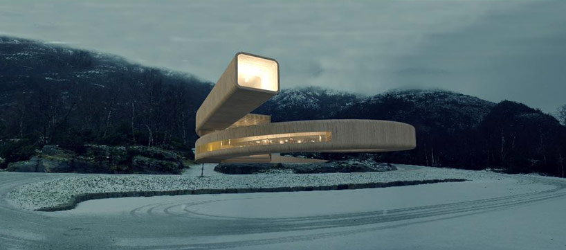 Winding Concrete Cultural Center in Norway: gulatinget_01.jpg