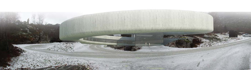 Winding Concrete Cultural Center in Norway: gulatinget_02.jpg