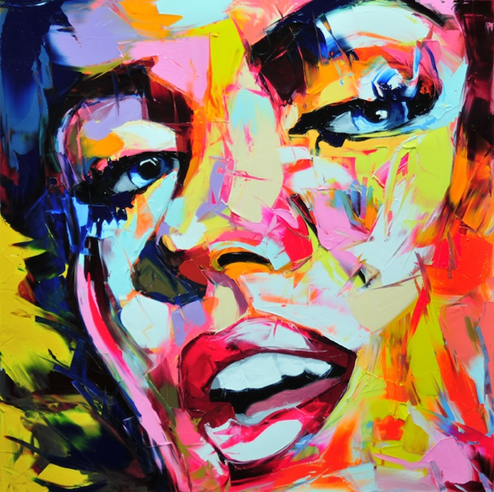 Vibrant Palette Knife Paintings by Françoise Nielly: francoisniellypaintings1.jpg