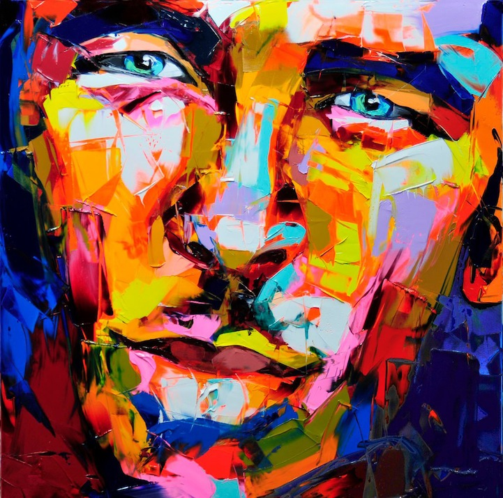 Vibrant Palette Knife Paintings by Françoise Nielly: francoisniellypaintings12.jpg